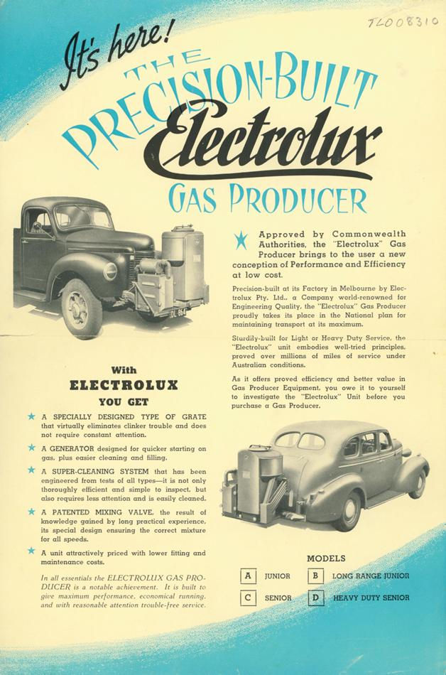 Electrolux gas producer