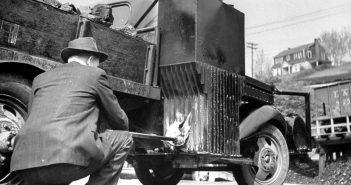 charcoal burn truck