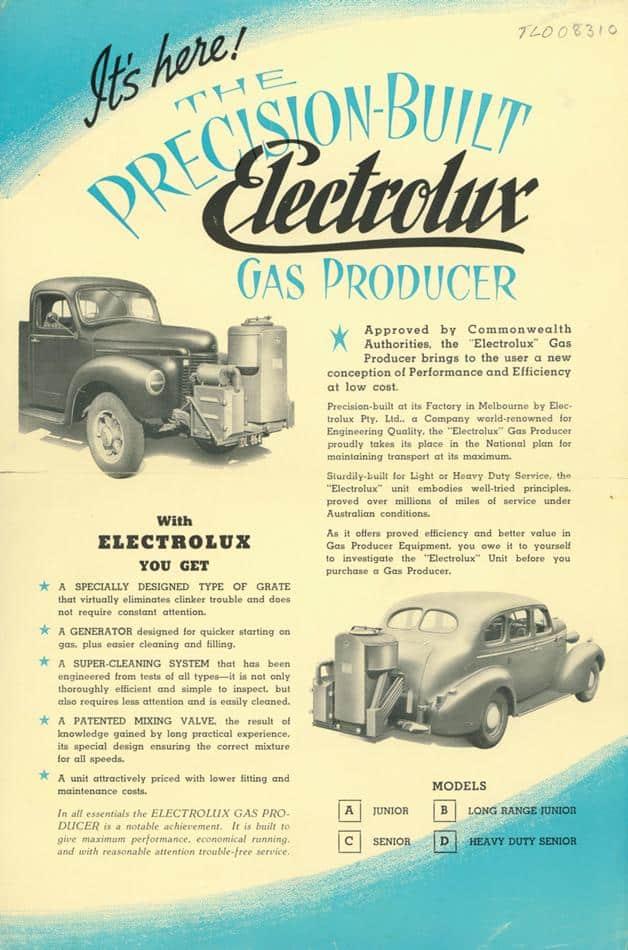 Electrolux gas producer
