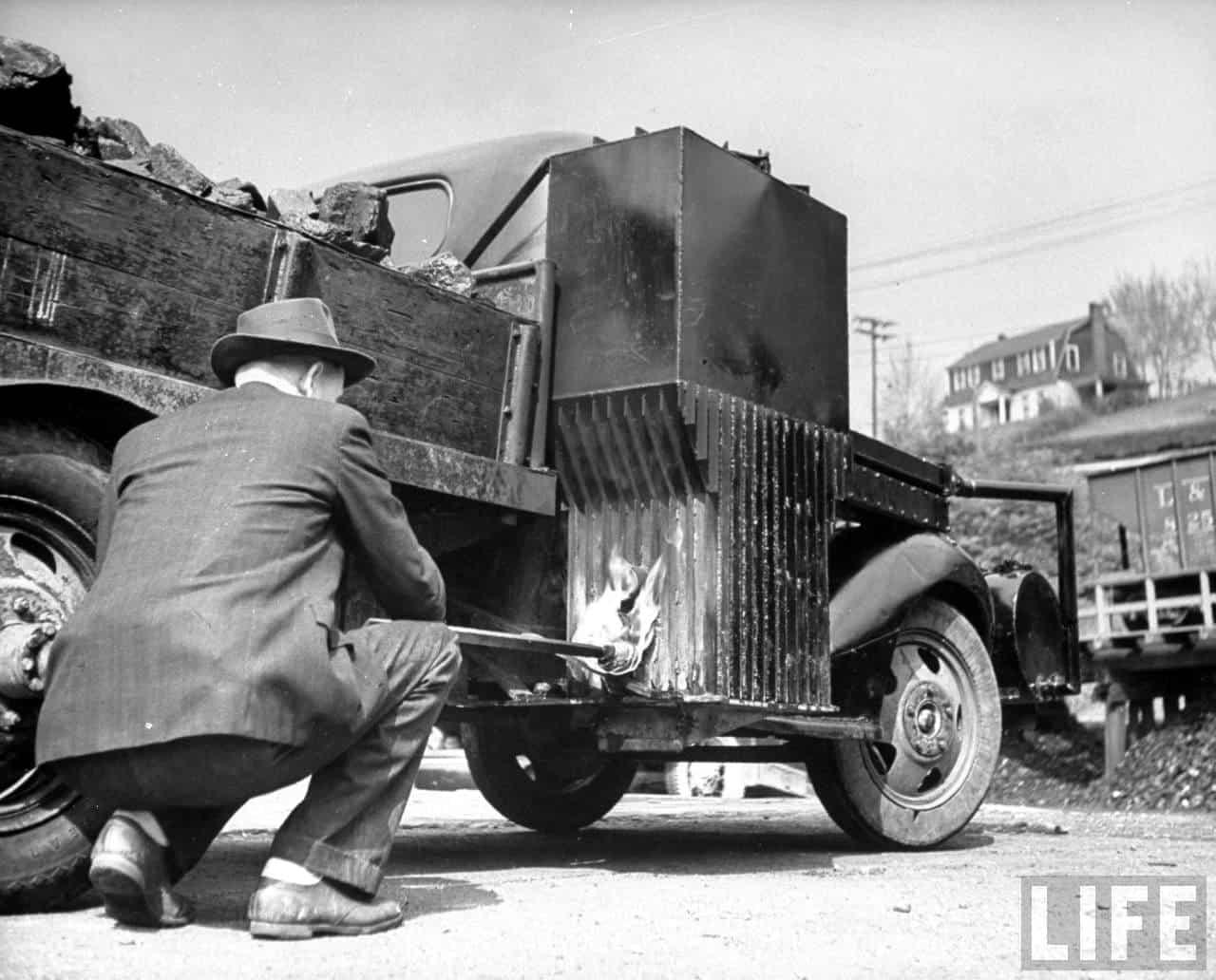 Truck Runs Charcoal